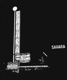 The Sahara Hotel & Casino on the 1950's