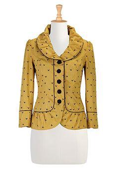 eShakti Chevron graphic embellished jacket