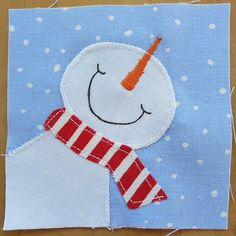 Nov Bitty - Winter by mamacjt, via Flickr. Would make cute mug rug