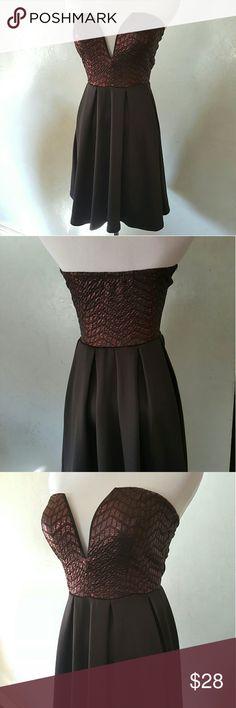 SALE! Black burgundy dress Black and burgundy metallic tube top dress for any occasion Chupchick  Dresses Mini