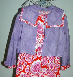 Orange and Purple dress and reversible jacket Size by mickiesmuse, $68.00