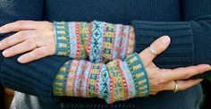 Ravelry: Fair Isle Cuffs - free charted pattern by little cotton rabbits, Julie Williams