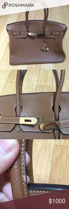 Brown Hermes Birkin Bag This is a high quality inspired bag. Price reflects this. 100% high quality leather and amazing quality stitching! 🅿️🅿️ ONLY!!! Hermes Bags Satchels