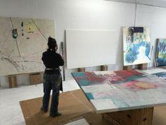 A day in the studio. www.annemarchand.com #abstractart #contemporaryart #acreativedc #artnews #womenartists #women_artists #annemarchand