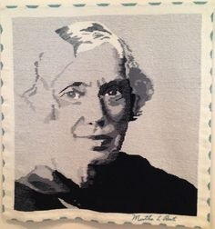 """Ann Booth, """"Martha Root"""" (2014), 35in x 36in"""