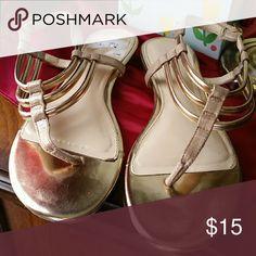 Sandals Gold,gently worn calvin Klein sandals Calvin Klein Shoes Sandals
