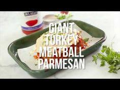 Giant Turkey Meatball Parmesan   Skinnytaste