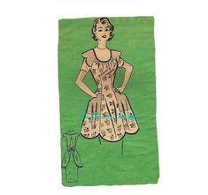 Repro Vintage Full Apron 50's PDF Pattern No 34 by laprairielady
