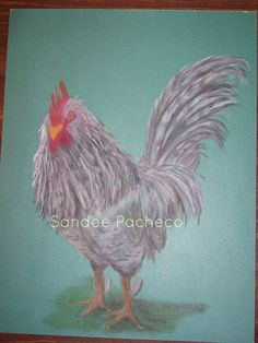 Rooster+original+drawing+in+oil+pastels+by+barndoordesigns+on+Etsy,+$60.00