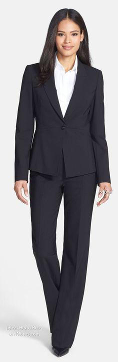 BOSS HUGO BOSS 'Jarina' One-Button Suiting Jacket