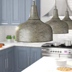 Comparison Burwan Inverted Pendant By Gracie Oaks Farmhouse Pendant Lighting, Kitchen Lighting, Home Lighting, Pendant Lights, Luxury Lighting, Lighting Ideas, Home Decor Lights, Light Decorations, Kitchen Pendants