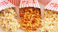 Microwave Popcorn Made in a Paper Bag (inclu.) Gemma's Bigger Bolder Baking 110 3 amazing flavors including Microwave Caramel Corn that is sweet & crunchy Microwave Caramel Corn, Homemade Microwave Popcorn, Caramel Corn Recipes, Microwave Caramels, Popcorn Recipes, Microwave Recipes, Snack Recipes, Baking Recipes, High Cholesterol Foods