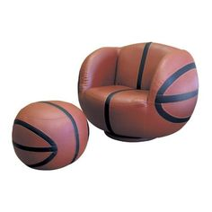 2 pcs Swivel Chair and Ottoman Set with Basketball Design - Listing price: $588.00 Now: $380.81