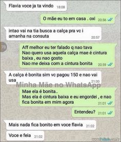 35 Mães no whatsapp - Funny Text - - 35 Mães no whatsapp The post 35 Mães no whatsapp appeared first on Gag Dad. Funny Sms, Funny Text Messages, Wtf Funny, Funny Texts, Top Memes, Best Memes, Funny Images, Funny Pictures, Girl Number For Friendship