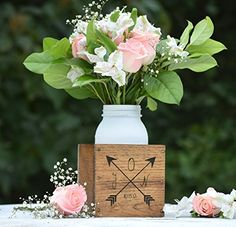 Personalized Flower Vase  Planter Vase  Wood Flower Box  Wedding Centerpiece  Wooden Planter Box  Rustic Home Decor  Personalized Gift *** Check out the image by visiting the link.