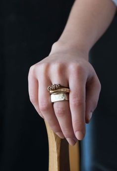 Bronze and Sterling Silver rings!!! #juliecohndesign
