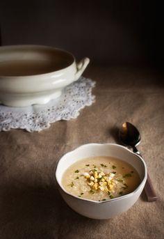 Receta 137: Caldo de cocido con arroz, huevo duro y perejil picado » 1080 Fotos de cocina