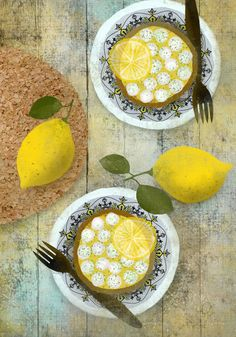 Illustration Citron Tarte Dessin Food