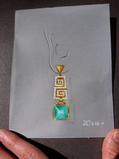 Drawing earring
