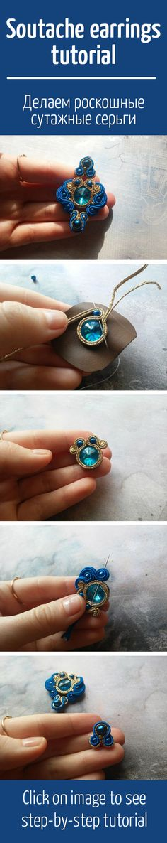 Jewelry Ideas That Are Sure To Please Soutache Jewelry, Beaded Earrings, Wire Jewelry, Jewelry Crafts, Beaded Jewelry, Handmade Jewelry, Beaded Bracelets, Crochet Earrings, Handmade Necklaces