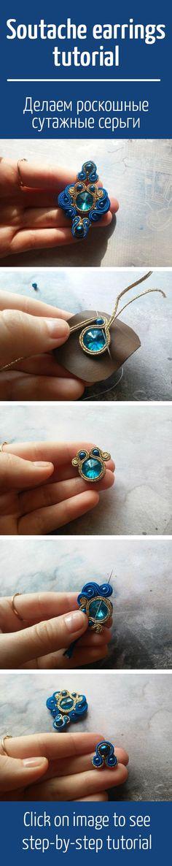 Jewelry Ideas That Are Sure To Please Soutache Jewelry, Wire Jewelry, Jewelry Crafts, Beaded Jewelry, Jewelery, Handmade Jewelry, Beaded Bracelets, Tutorial Soutache, Earring Tutorial