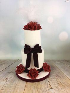 Mini wedding cake anniversary cake by Melanie Jane Sowa - http://cakesdecor.com/cakes/260027-mini-wedding-cake-anniversary-cake