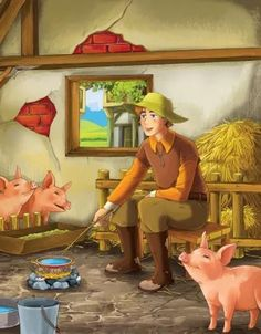A princess is spoiled and unable to appreciate the gifts of natural beauty that her prince sends her. It belongs to the keeper of the Emperor's pigs - the Imperial Swineherd. Red Quotes, Book Quotes, Andersen's Fairy Tales, Red Cottage, Little Red, Painting, Ears, Books, Livros