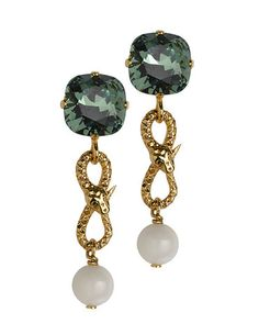 THE ORIENT EXPRESS COLLECTION  Tailsman Swarovski crystal and Pearl earrings  Fall/Winter Collection. Made in Italy  Available now for pre-order.  Shipment in October