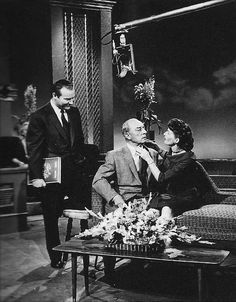 Ralph Edwards the host of This is Your Life with Buster and Eleanor Keaton 1957