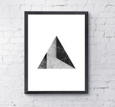 Geometric Triangle Print Instant Digital by LittlePrintShopUK