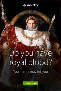 Ever wonder if you come from royalty? Discover your family history with Ancestry®. Royal Blood, Genealogy Sites, Family Genealogy, Marketing Online, Marketing Digital, Pool Diy, Family Room Design, Ancestry, Family History