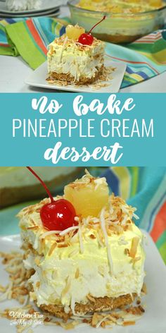 No-Bake Pineapple Dessert Recipe. This is seriously a great dessert that everyone loves. No-Bake Pineapple Dessert Recipe. This is seriously a great dessert that everyone loves. Pineapple Dream Dessert Recipe, Pineapple Desserts, Pineapple Recipes, Blueberry Desserts, Frozen Desserts, No Bake Desserts, Easy Desserts, Delicious Desserts, Yummy Food