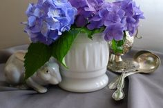 Milk glass planter by BrightwoodLane on Etsy