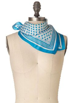 Vintage Heart of Blue Scarf, @ModCloth