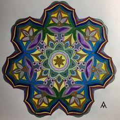 Mandala, Mandalas, Pintando mandalas, Painting mandalas, Verde, Green, Azúl, Blue, Amarillo, Yellow, Oro, Gold, Magenta, Purple, Plateado, Silver, Color, Colores, Colors, Mandalas para el alma, Mandalas para el alma 2