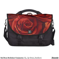 Red Rose Rickshaw Commuter / Laptop Bag