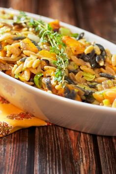 """Butternut Squash Orzo Risotto 