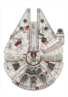 Millennium Falcon – Pirate Ship by David Kennad Star Wars Cake, Theme Star Wars, Star Wars Party, Star Wars Tattoo, Star Tattoos, Arrow Tattoos, Tableau Star Wars, Falcon Tattoo, Cuadros Star Wars