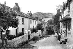 Photo of Berrynarbor, Village Street 1911 North Devon, Family Genealogy, Middle East, Liverpool, United Kingdom, Art Ideas, Childhood, Street, Places