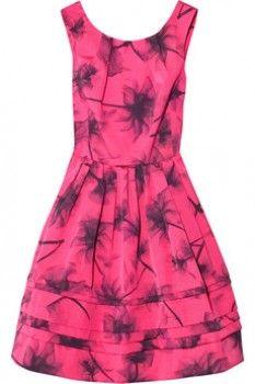 Ohanzee printed faille dress Jason Wu