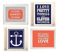 Nautical deco - HOME SWEET DORM :)