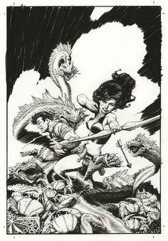 Mark Schultz - Xenozoic Tales Artists Edition Cover   Comic Art