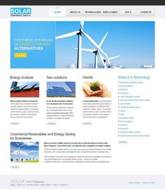 Solar Energy Website Templates by Sawyer