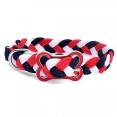 Hundehalsband Sailor Multicolor. Braided dog collar.