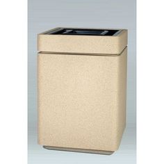 Allied Molded Products Boulevard 15-Gal Square Trash Bin Color: Blue