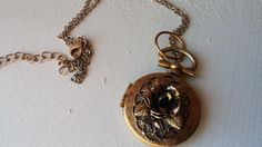 Vintage Victorian Mixed Metals Locket with 2 by VintageInspiredNow