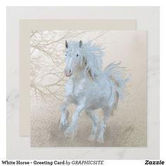 White Horse - Greeting Card