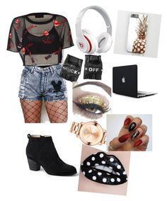 """""""DJ at a party"""" by maria-alexandra-iordan on Polyvore featuring Lands' End, Funk Plus, Beats by Dr. Dre and Movado"""