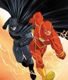 The Flash and Batman! #comicsandcoffee By Mikel Janin