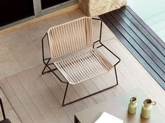 Garden armchair with footstool OUT OF LINE by EXPORMIM
